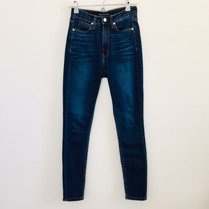 Calvin Klein High-Rise Dark Wash Skinny Jeans